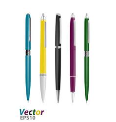 Business class pens vector