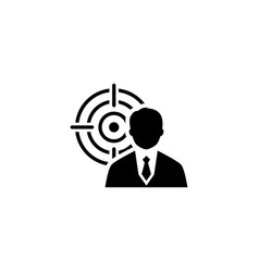 business goals icon flat design vector image