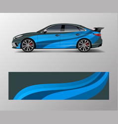 car wrap design for sport wrap design vector image