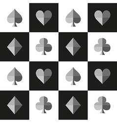 Card Suit Chess Board Black White vector