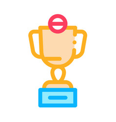 champion cup icon outline vector image