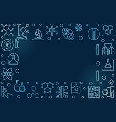 chemistry blue horizontal outline concept vector image