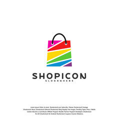 color shop logo template design vector image