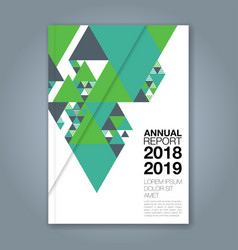 cover annual report 1144 vector image