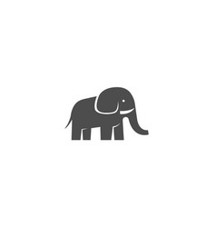 creative black elephant logo vector image