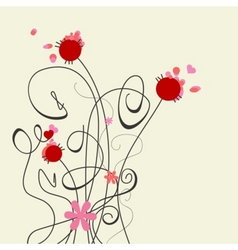 cute graceful flowers vector image