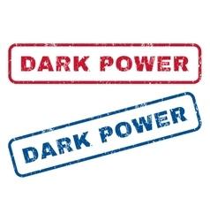 Dark Power Rubber Stamps vector