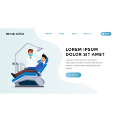 dental clinic website page vector image