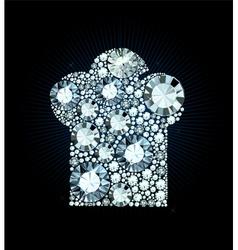 Diamond Chef Hat vector image