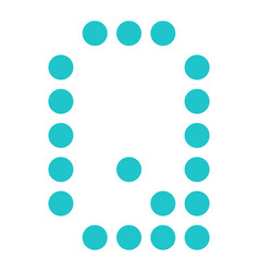 digital letter q display board round dot vector image