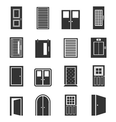 Door an icon vector
