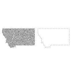 dot contour map of montana state vector image