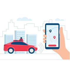 Driverless car autonomous vehicle auto with vector