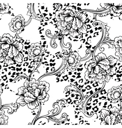 eclectic fabric seamless pattern animal vector image