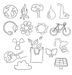 eco friendly concept hand vector image
