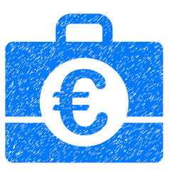 Euro accounting grunge icon vector