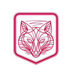 Fox head crest monoline vector
