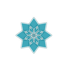 Geometrical ornament ornamental isolated vector