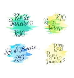 Hand drawn lettering elements design for brazilian vector image