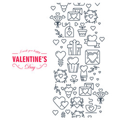 happy valentines day decorative card vector image