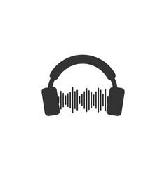 headphone icon design template vector image