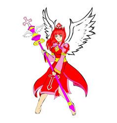 Healer red vector
