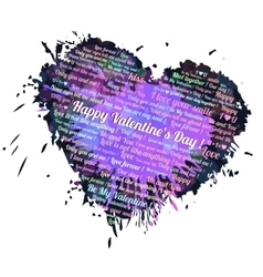 Heart blots ink vector image
