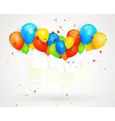 holiday billboard balloons vector image