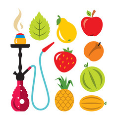 Hookah and different tastes flat style vector
