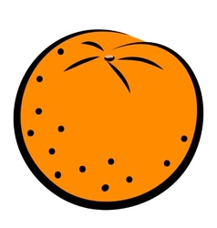 icon of orange vector image