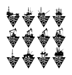 Icons oil industry-2 vector image