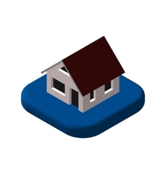 Isometric 3D icon Pictograms House vector image