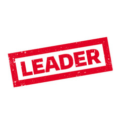 leader rubber stamp vector image