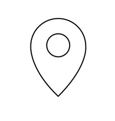 line location symbol to destination geography map vector image