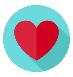 Love Heart Shape Circle Icon vector