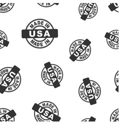 Made in usa stamp seamless pattern background vector