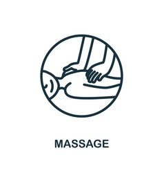 Massage icon from alternative medicine collection vector