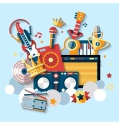 Musical instruments set vector
