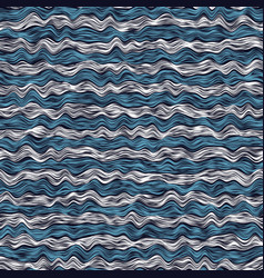 Noisy white and blue waves over dark vector