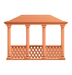 Outdoor gazebo icon cartoon style vector