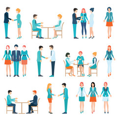 partnership business people vector image