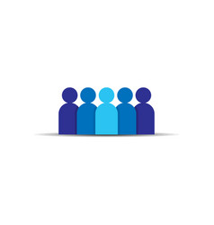 people icon business corporate team working vector image
