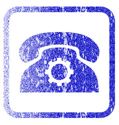 Phone settings framed textured icon vector