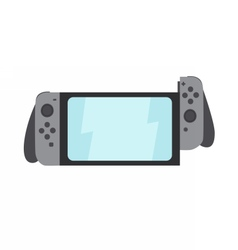 Portable gaming system witch switching parts vector