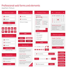 Professional set of web forms and elements on vector