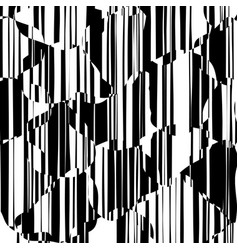 random chaotic lines abstract geometric pattern vector image