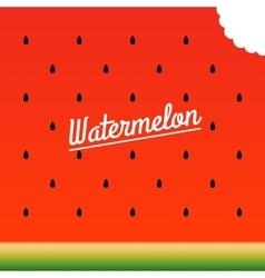 Ripe watermelon bitten piece pattern vector