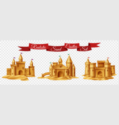 sand castle transparent set vector image