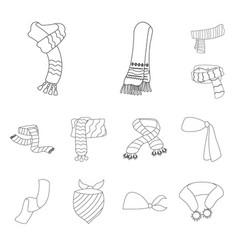 scarf and shawl symbol set vector image