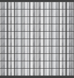 seamless square shaped steel studded pattern vector image